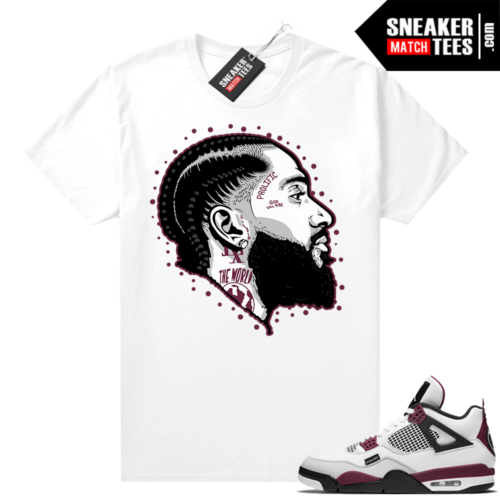 PSG 4s Sneaker Match Tees Prolific White