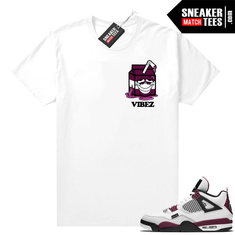 PSG 4s Sneaker Match Tees Purple Juice White