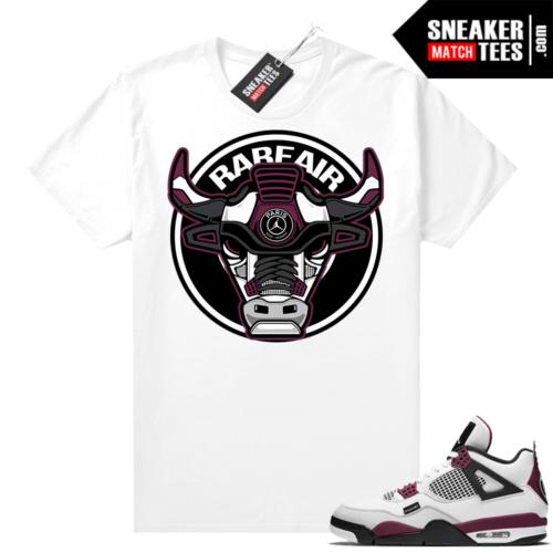PSG 4s Sneaker Match Tees Rare Air Bull White
