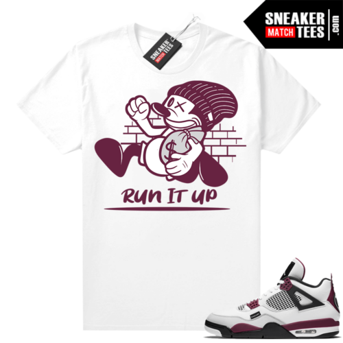 PSG 4s Sneaker Match Tees Run It Up White
