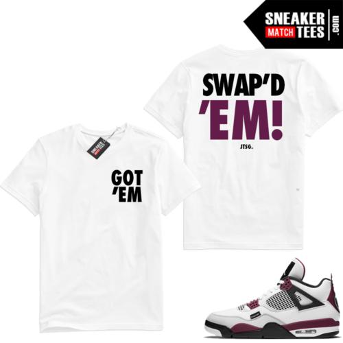 PSG 4s Sneaker Match Tees SWAPD EM White