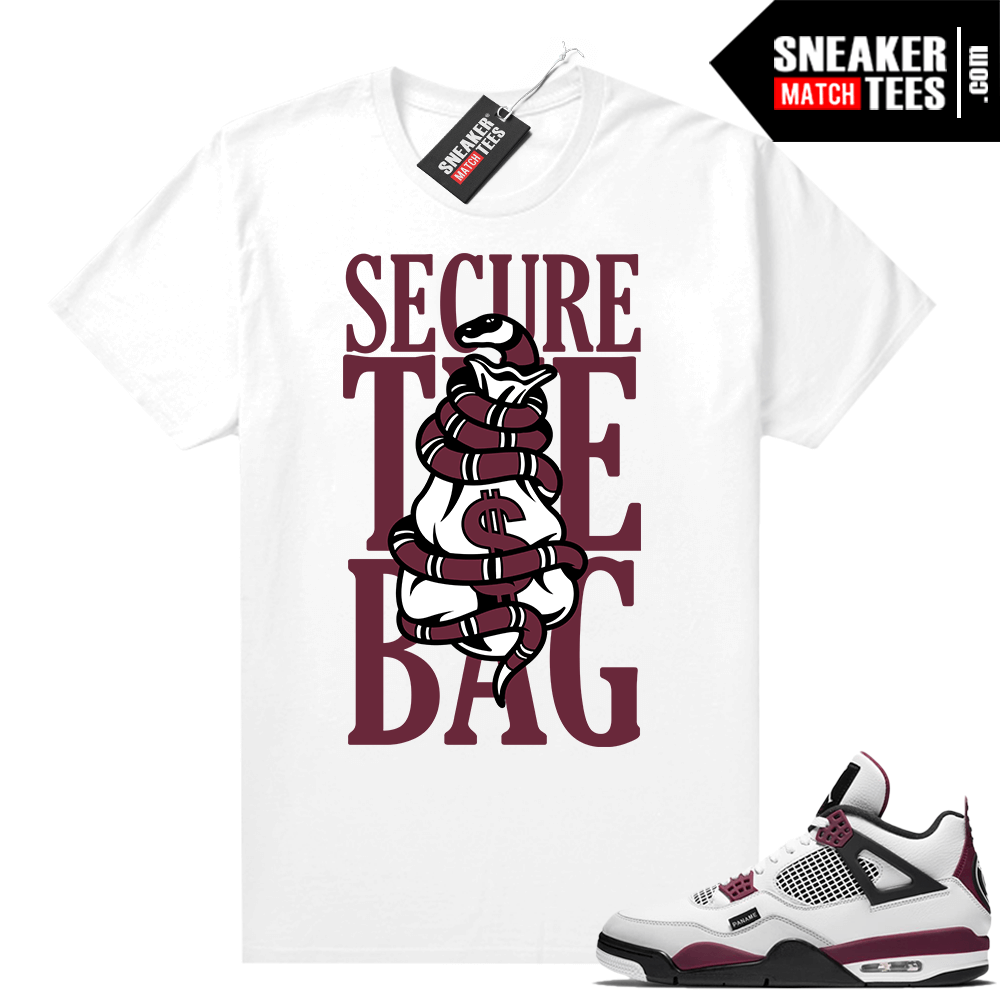PSG 4s Sneaker Match Tees Secure the Bag White