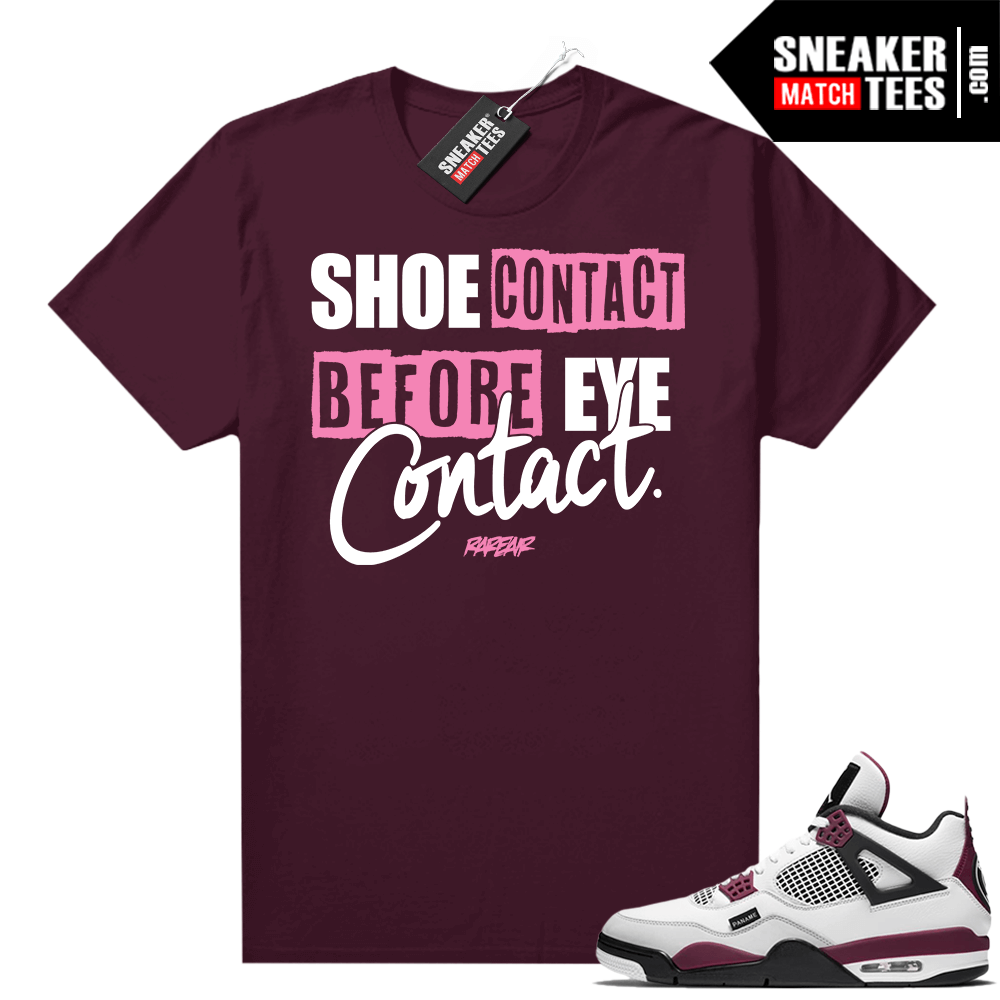 PSG 4s Sneaker Match Tees Shoe Contact Maroon