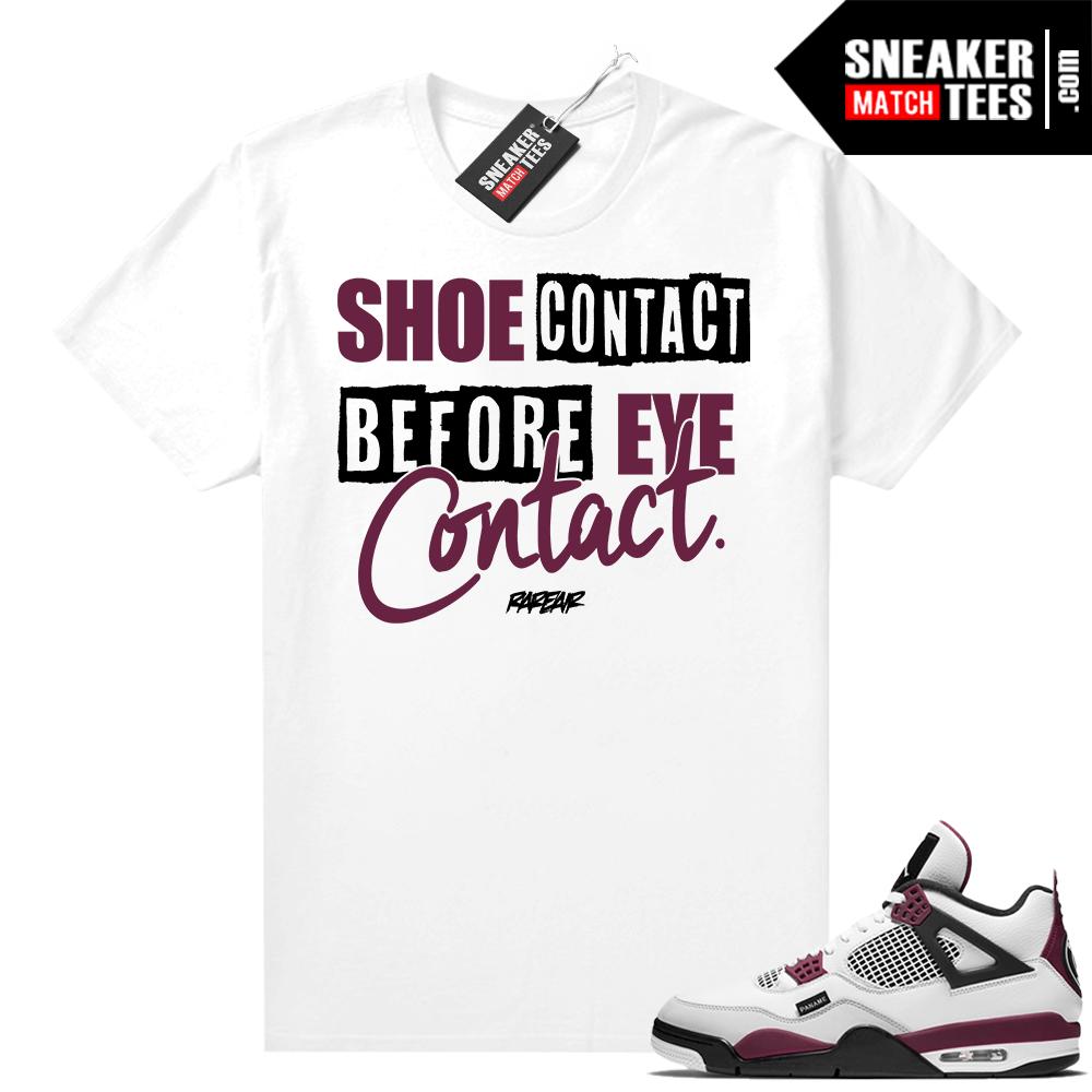 PSG 4s Sneaker Match Tees Shoe Contact White
