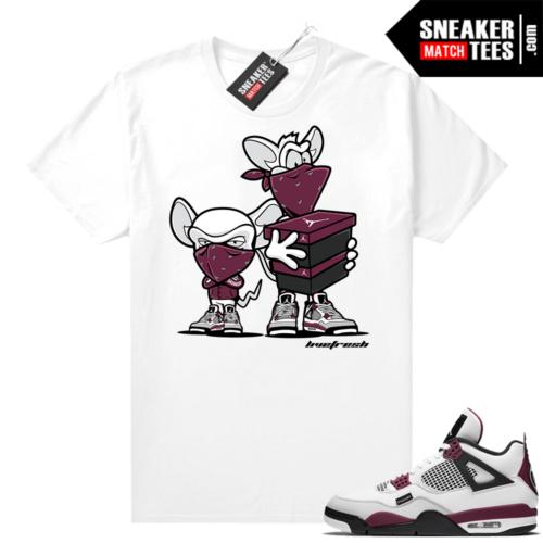 PSG 4s Sneaker Match Tees Sneaker Heist White