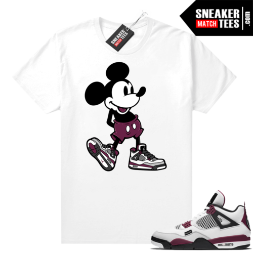 PSG 4s Sneaker Match Tees Sneakerhead Mickey White