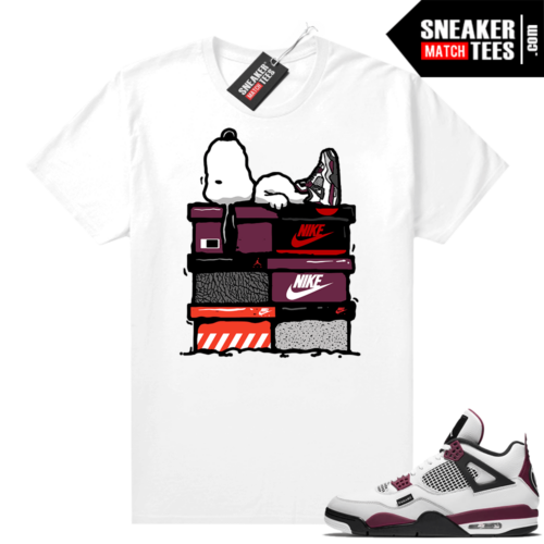 PSG 4s Sneaker Match Tees Sneakerhead Snoopy White