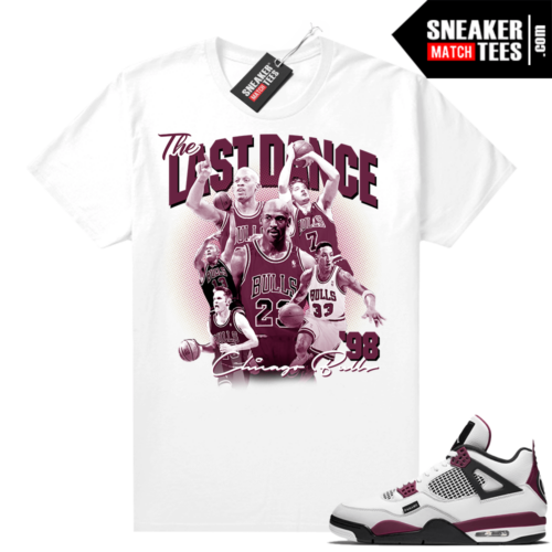 PSG 4s Sneaker Match Tees The Last Dance White