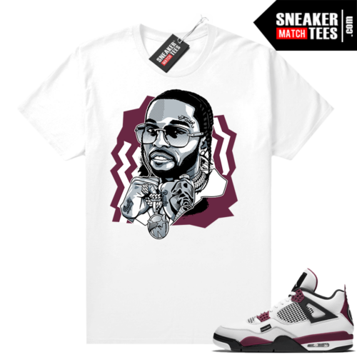PSG 4s Sneaker Match Tees The Woo White