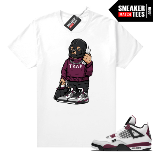 PSG 4s Sneaker Match Tees Trap Bear White