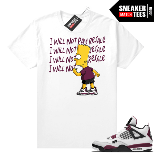 PSG 4s Sneaker Match Tees Will Not Pay Resale White