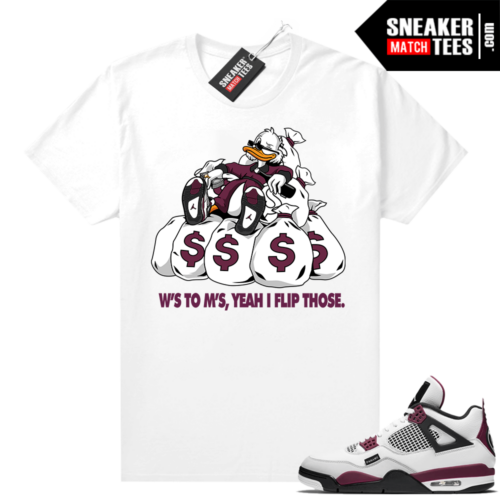 PSG 4s Sneaker Match Tees Ws to Ms White
