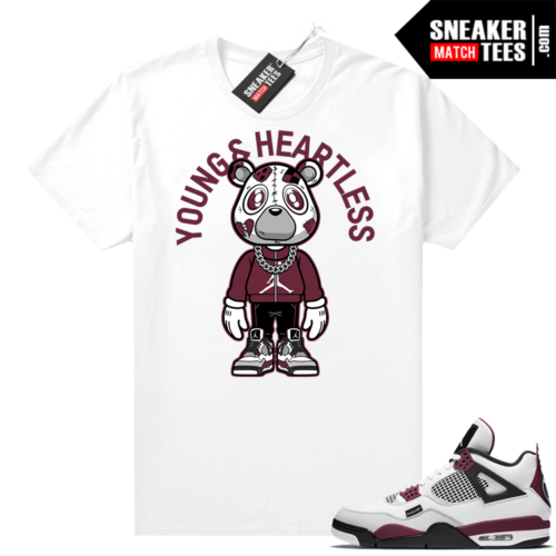 PSG 4s Sneaker Match Tees Young & Heartless Bear Toon White
