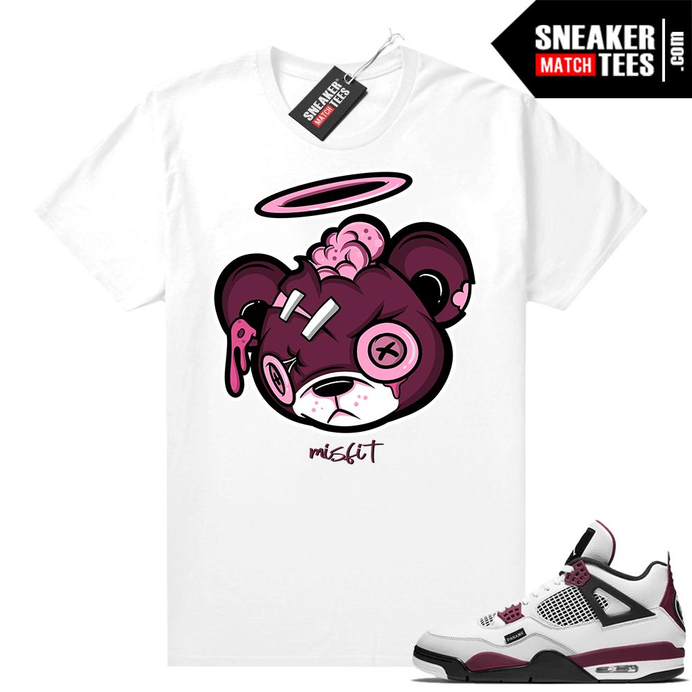PSG 4s Sneaker Match Tees -Zombie Bear White