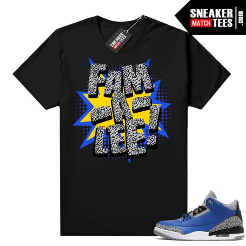 Varsity Royal 3s shirt Black Jay the Sneaker Guy Family V2