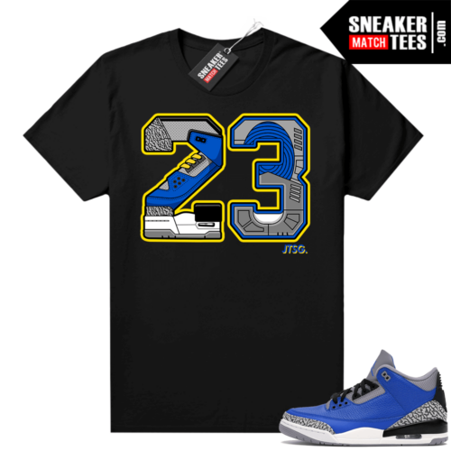 Varsity Royal Cement 3s shirt Black 23 Swapped Edition