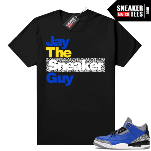 Varsity Royal Cement 3s shirt Black Jay The Sneaker Guy