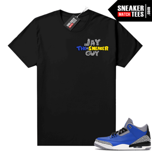 Varsity Royal Cement 3s shirt Black Jay The Sneaker Guy Channel