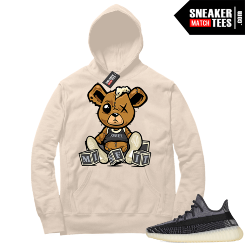 Match Yeezy 350 V2 Carbon Sneaker Match Hoodie Misfit Teddy Cream