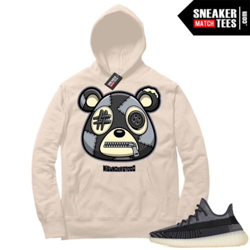 Match Yeezy 350 V2 Carbon Sneaker Match Hoodie Misunderstood Bear Cream