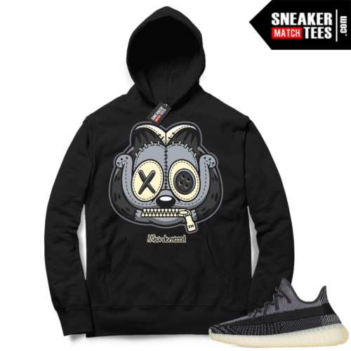 Match Yeezy 350 V2 Carbon Sneaker Match Hoodie Misunderstood Garfield Black