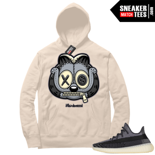 Match Yeezy 350 V2 Carbon Sneaker Match Hoodie Misunderstood Garfield Cream