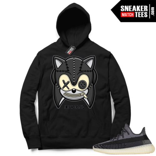 Match Yeezy 350 V2 Carbon Sneaker Match Hoodie Misunderstood Hedgehog Black