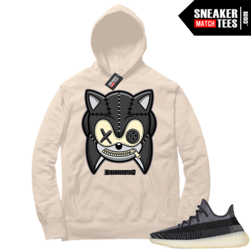 Match Yeezy 350 V2 Carbon Sneaker Match Hoodie Misunderstood Hedgehog Cream