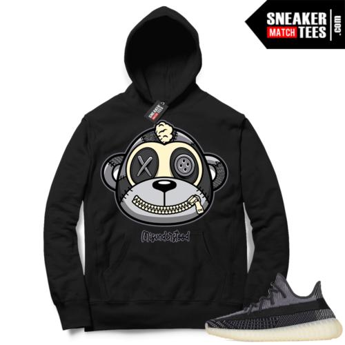 Match Yeezy 350 V2 Carbon Sneaker Match Hoodie Misunderstood Monkey Black