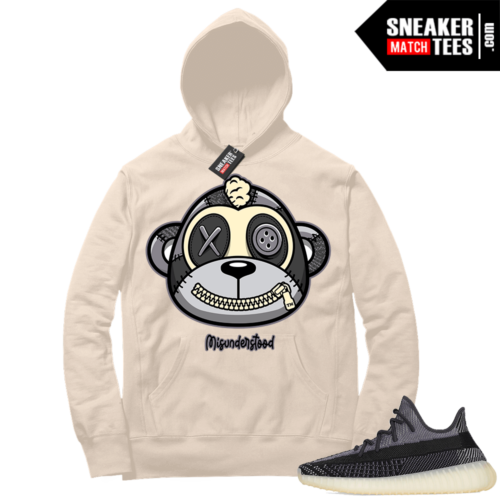 Match Yeezy 350 V2 Carbon Sneaker Match Hoodie Misunderstood Monkey Cream