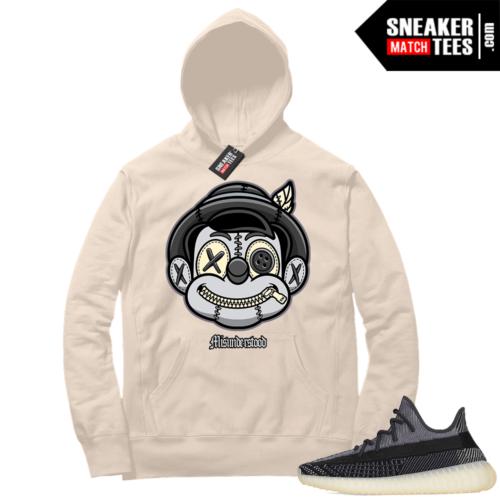 Match Yeezy 350 V2 Carbon Sneaker Match Hoodie Misunderstood Pinocchio Cream