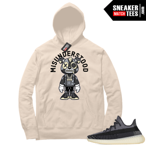 Match Yeezy 350 V2 Carbon Sneaker Match Hoodie Misunderstood Puppy Toon Cream