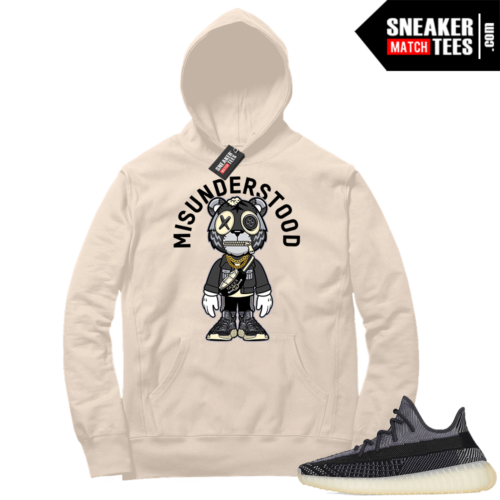 Match Yeezy 350 V2 Carbon Sneaker Match Hoodie Misunderstood Tiger Toon Cream