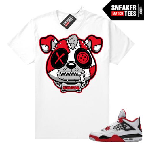 Fire Red 4s Jordan Sneaker Tees Shirts White Misunderstood Puppy