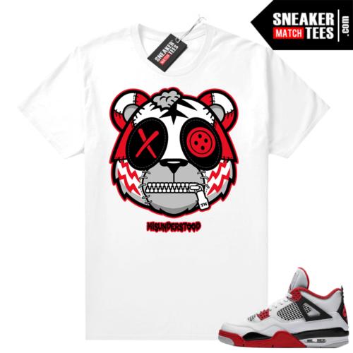 Fire Red 4s Jordan Sneaker Tees Shirts White Misunderstood Tiger