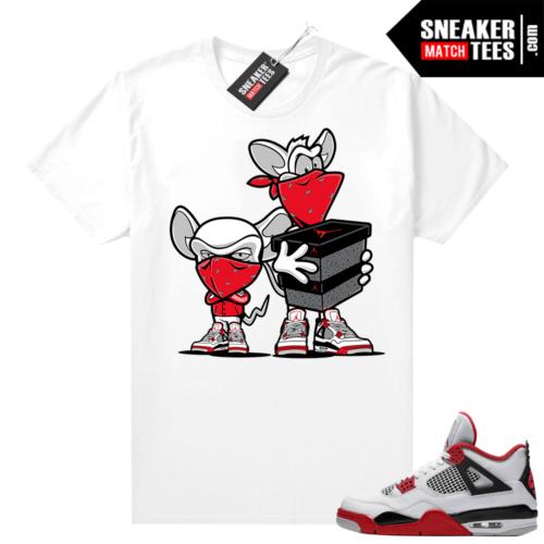 Fire Red 4s Jordan Sneaker Tees Shirts White Sneaker Heist