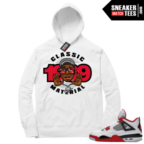 Fire Red 4s Sneaker Hoodies White Classic 1989 Mars