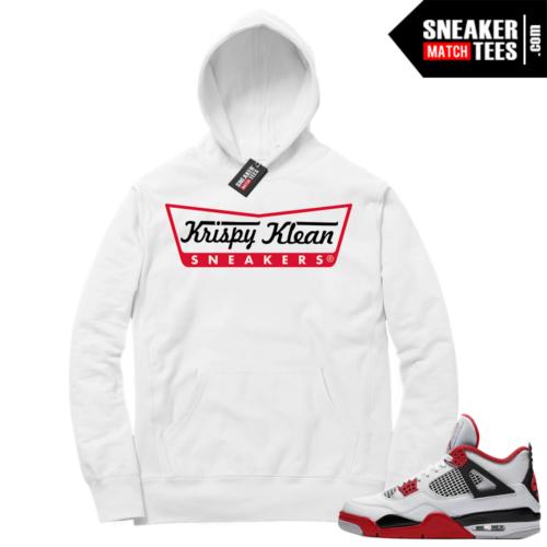 Fire Red 4s Sneaker Hoodies White Krispy Klean Sneakers