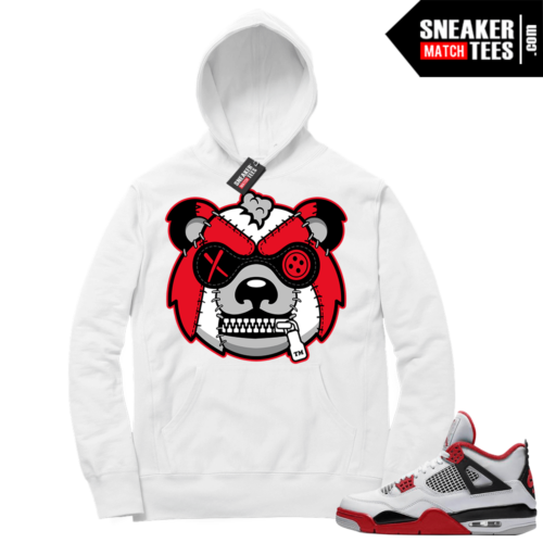 Fire Red 4s Sneaker Hoodies White Misunderstood Grizzly