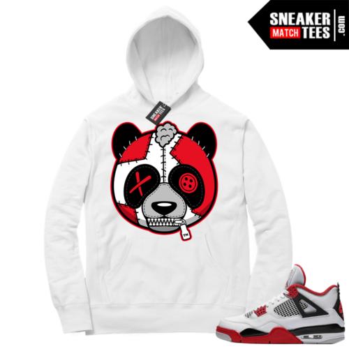Fire Red 4s Sneaker Hoodies White Misunderstood Panda