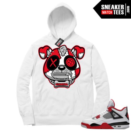 Fire Red 4s Sneaker Hoodies White Misunderstood Puppy