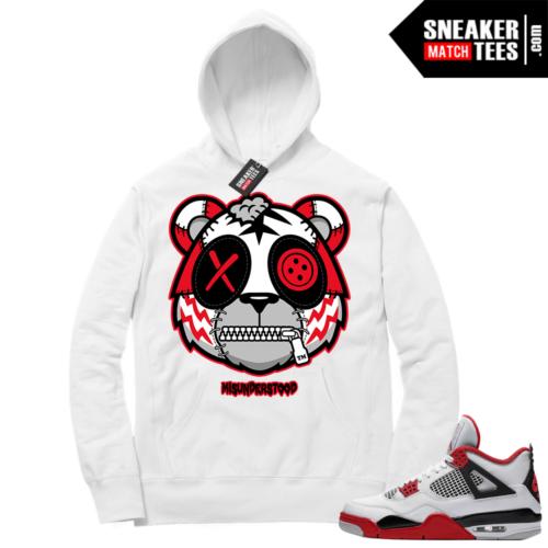 Fire Red 4s Sneaker Hoodies White Misunderstood Tiger