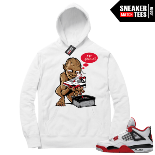 Fire Red 4s Sneaker Hoodies White My Precious