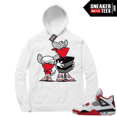 Fire Red 4s Sneaker Hoodies White Sneaker Heist