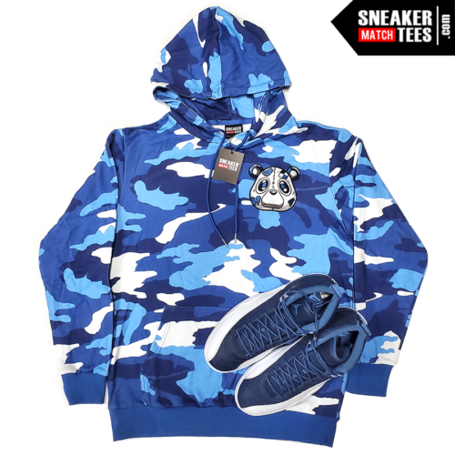 Jordan 12 Obsidian Hoodie Heartless Bear Camo (4)