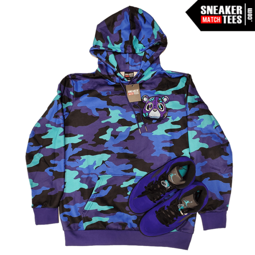 Jordan 5 Grape Hoodie Heartless Bear Camo (2)