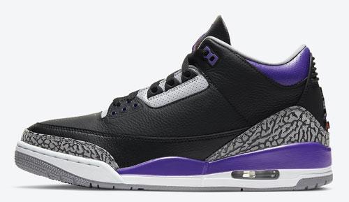 Jordan release dates Nov Jordan 3 Court Purple
