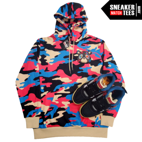 OFF Noir Jordan 4 Union Heartless Bear Camo Hoodie (4)
