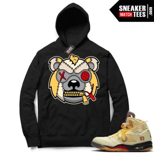 OFF White Jordan 5 Sail Sneaker Hoodies Black Misunderstood Grizzly