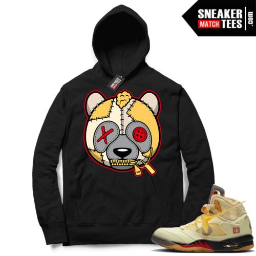 OFF White Jordan 5 Sail Sneaker Hoodies Black Misunderstood Panda